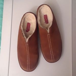 COLE HAAN water proof  leather mules
